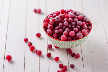 Frozen cranberries